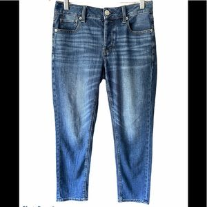 AE Tomgirl Distressed Dark Wash Jeans Sz 4 Short